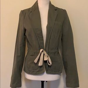 Old Navy Army Green front-tie Jacke